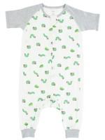 Nest Designs Nest Designs 0.6 Tog Short Sleeve Sleep Suit (Cozy Caterpillar)