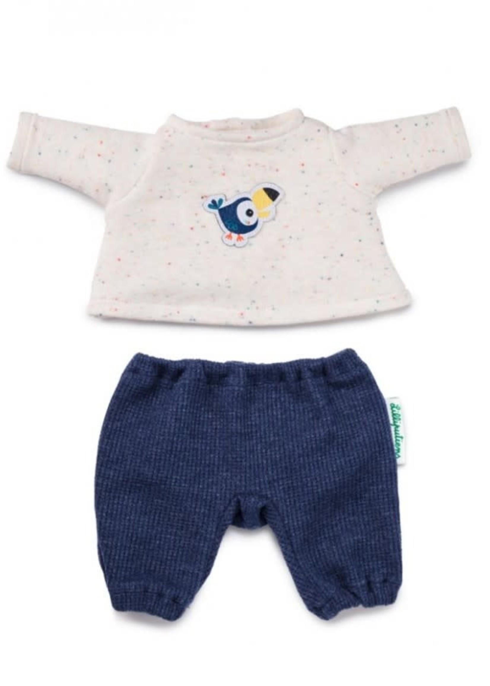 Lilliputie Lilliputiens Doll Pajamas (Pablo)