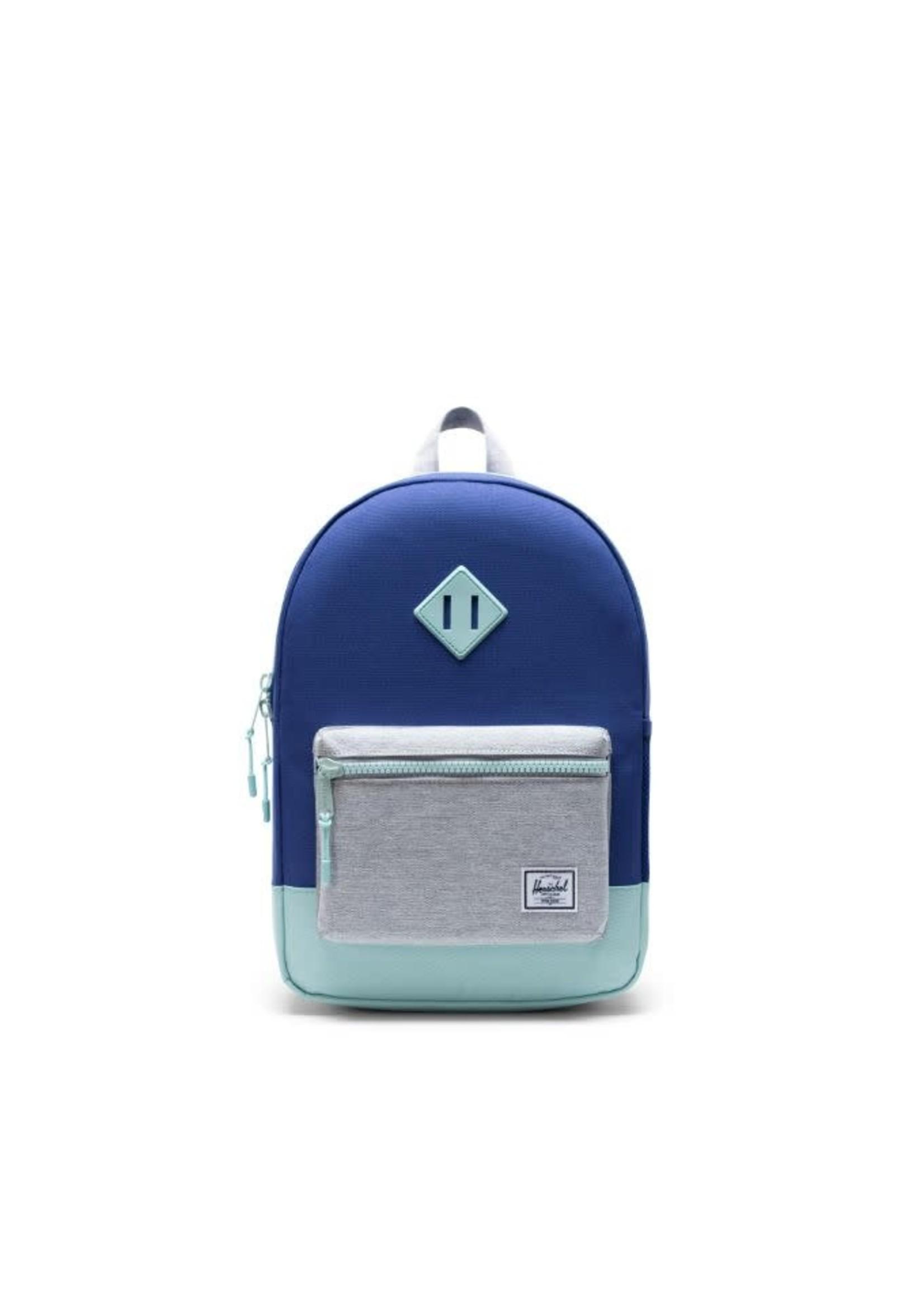 Herschel Supply Herschel Supply Heritage X-Large Youth Backpack (Orient Blue/Light Grey Crosshatch/Eggshell Blue)