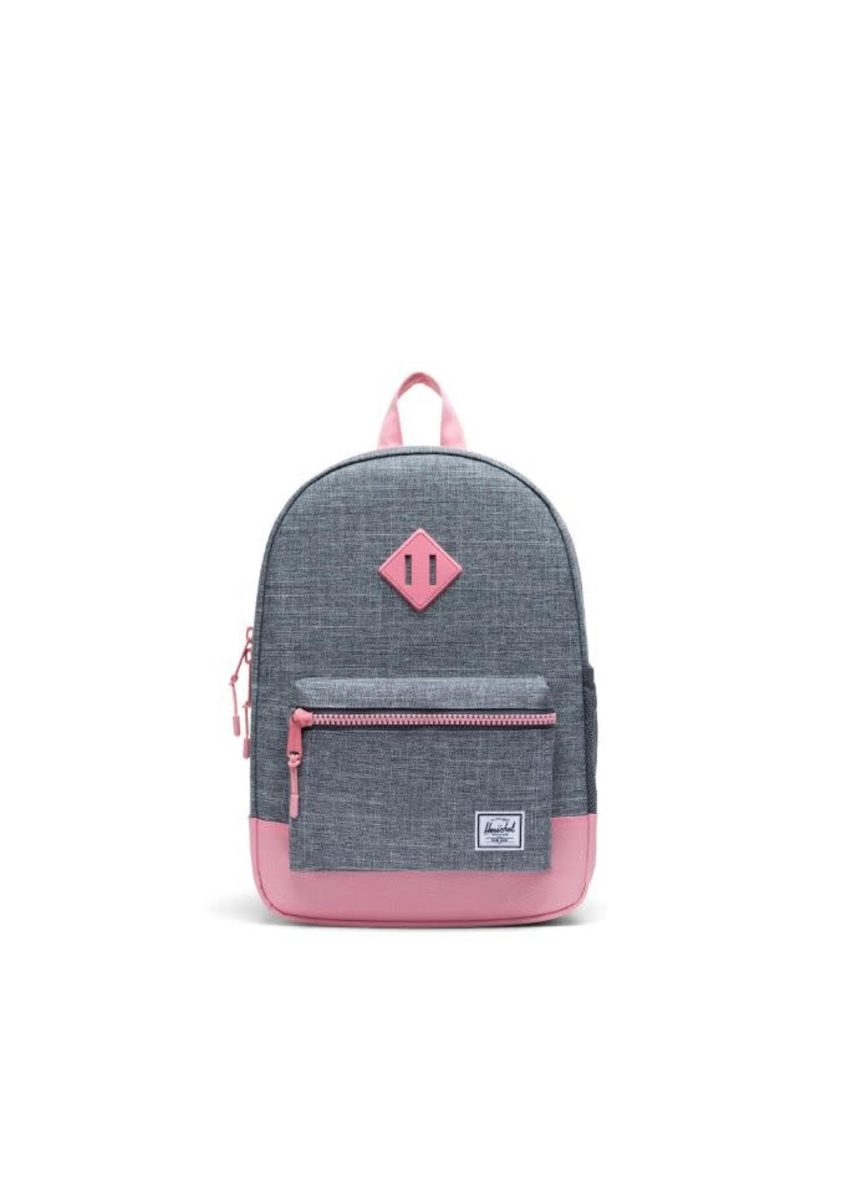 Herschel Supply Herschel Supply Heritage Youth Backpack (Raven Crosshatch/Flamingo Pink)