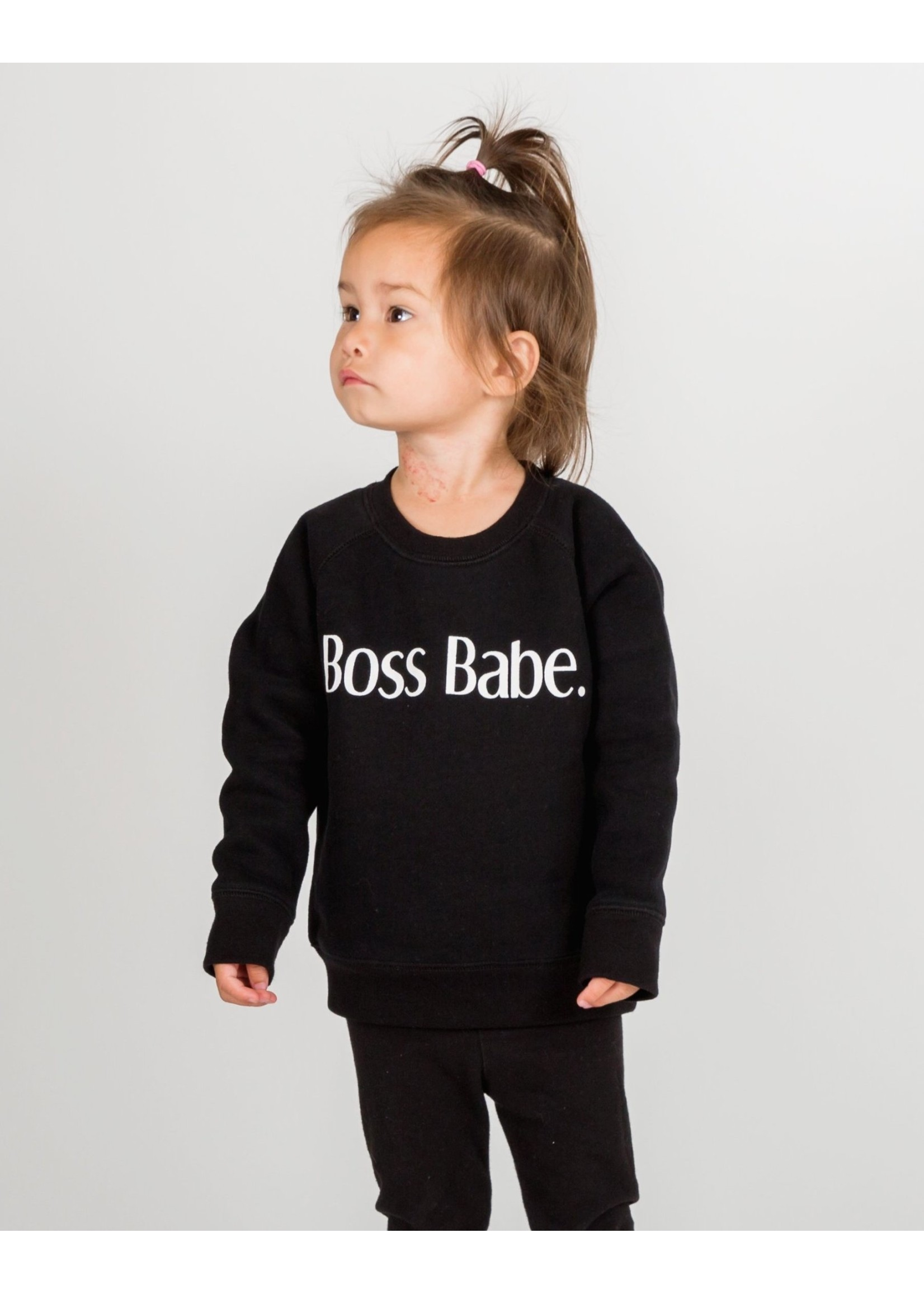 Brunette The Label BL Boss Babe Crew (Black)