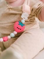 Loulou Lollipop Loulou Lollipop Pacifier Clip (Strawberry)
