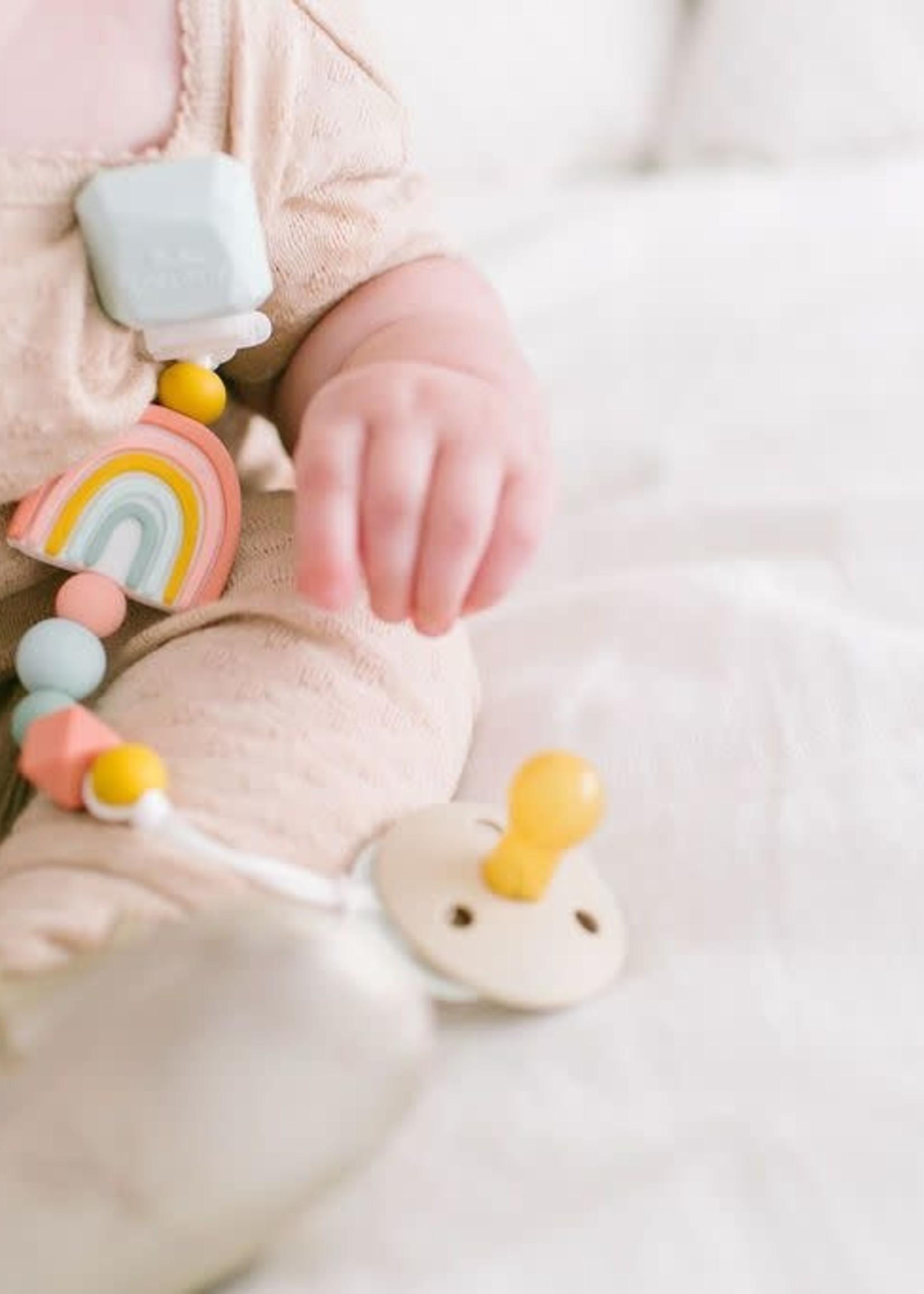 Loulou Lollipop Loulou Lollipop Pacifier Clip (Rainbow)