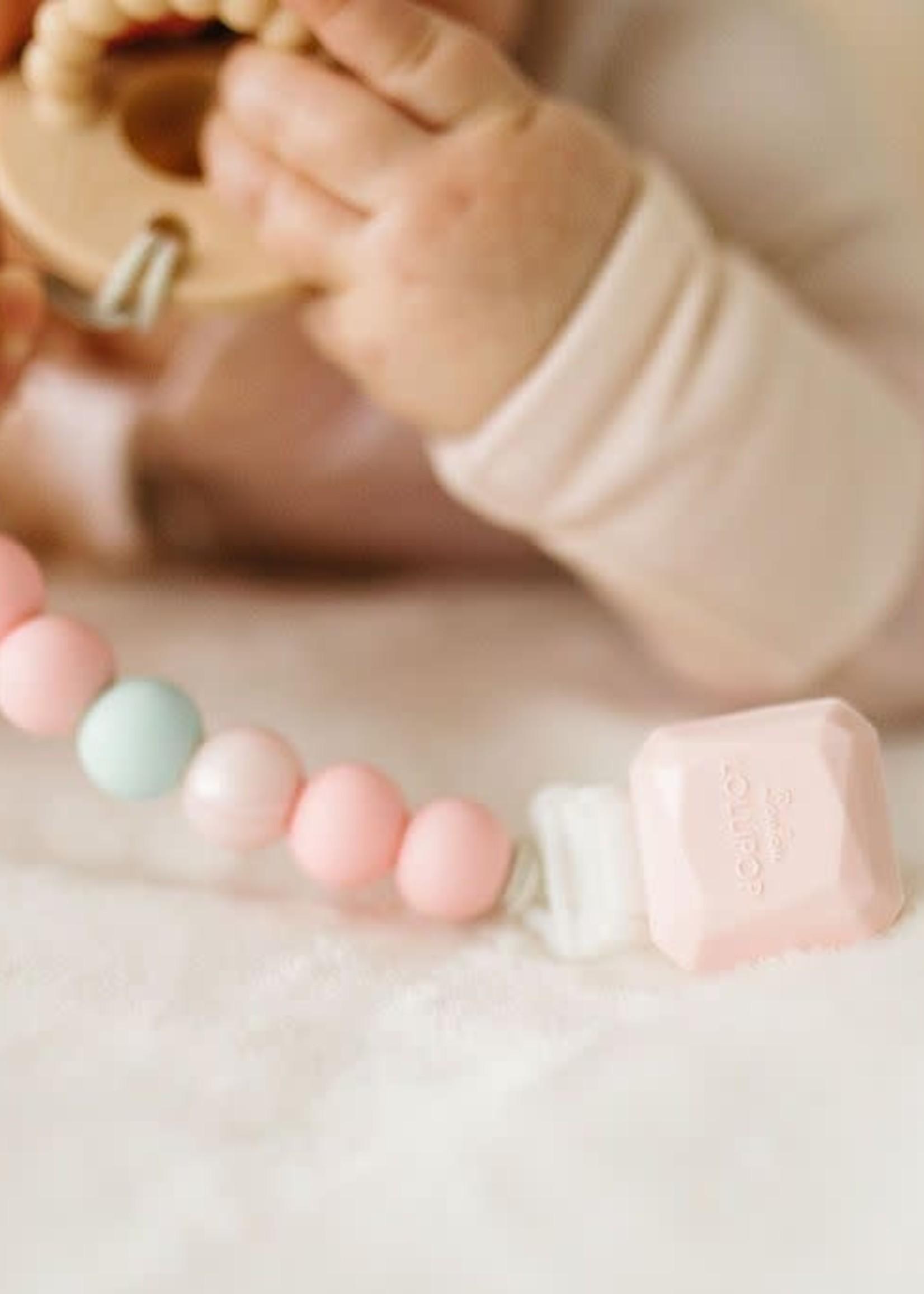 Loulou Lollipop Loulou Lollipop Pacifier Clip (Gem Pink Mint)