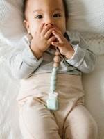 Loulou Lollipop Loulou Lollipop Pacifier Clip (Colour Pop Silicone & Wood Mint)