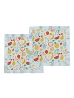 Loulou Lollipop Loulou Lollipop 2pk Security Blankets (Cutie Fruits)