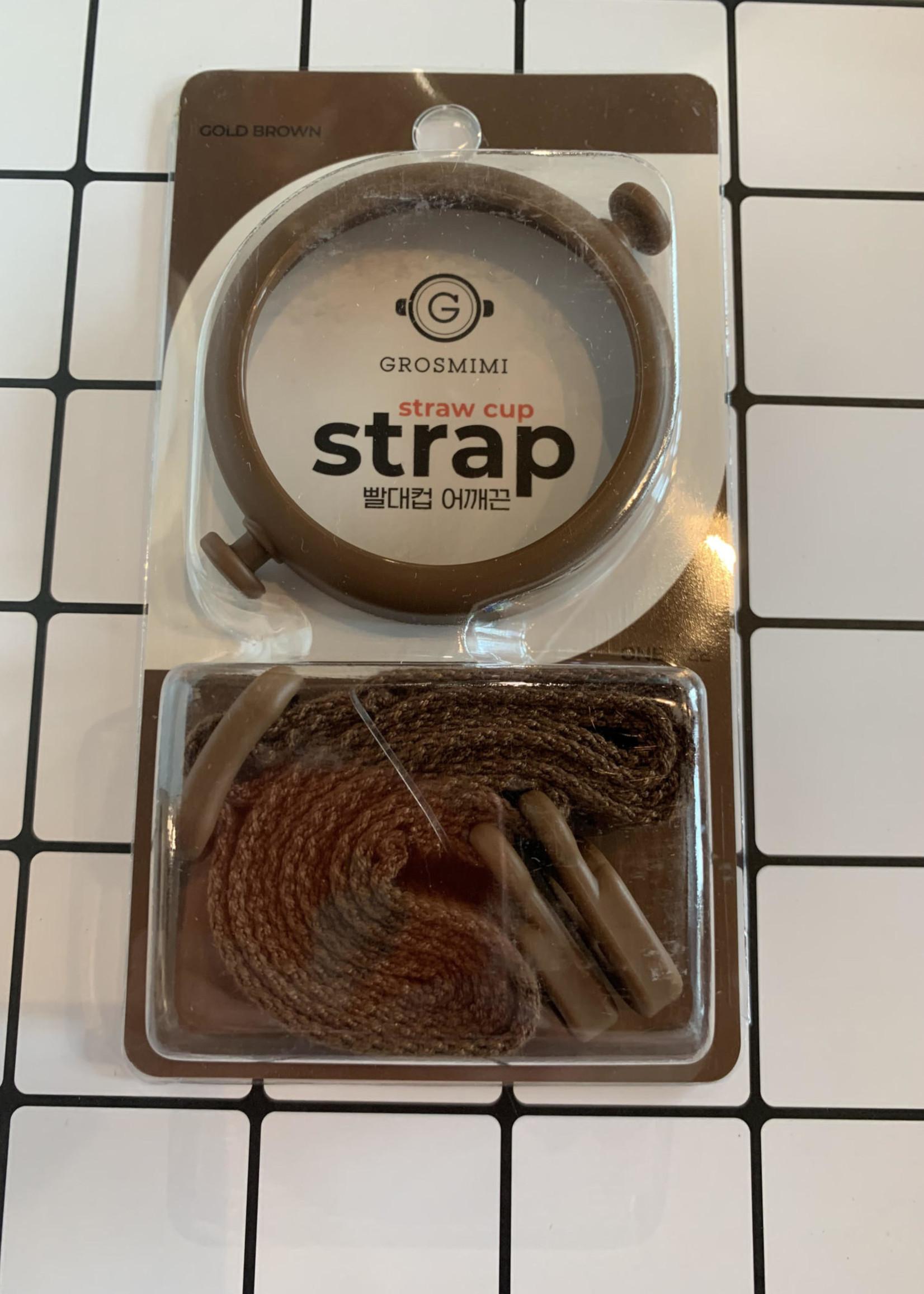 Grosmimi Grosmimi Straw Cup Strap (Gold Brown)