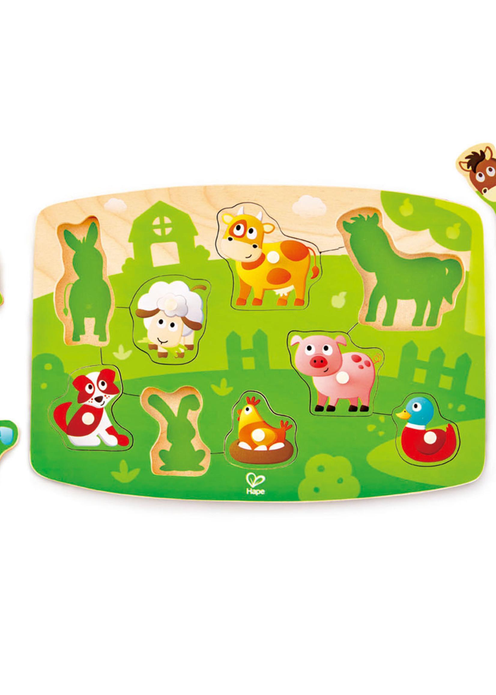 Hape Hape Farmyard Peg Puzzle