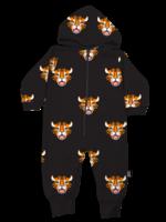 Whistle & Flute Whistle & Flute Hooded Romper (All-Over Tiger)
