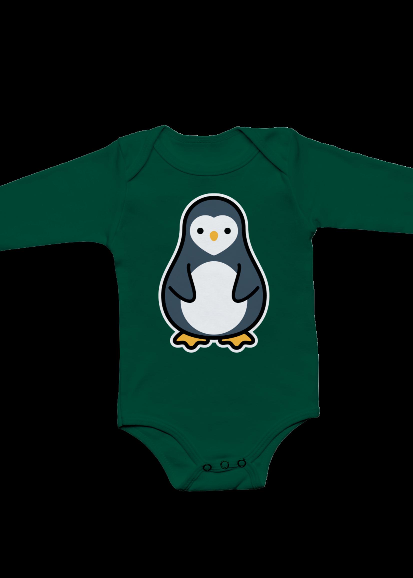 Whistle & Flute W&F Long Sleeve Bodysuit (Kawaii Penguin)