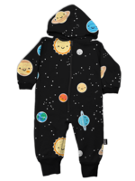 Whistle & Flute Whistle & Flute Hooded Romper (All-Over Kawaii Space)