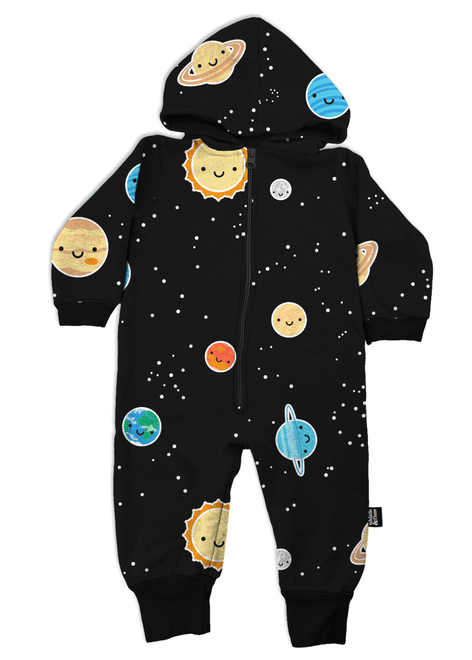 Whistle & Flute W&F Hooded Romper (All-Over Kawaii Space)