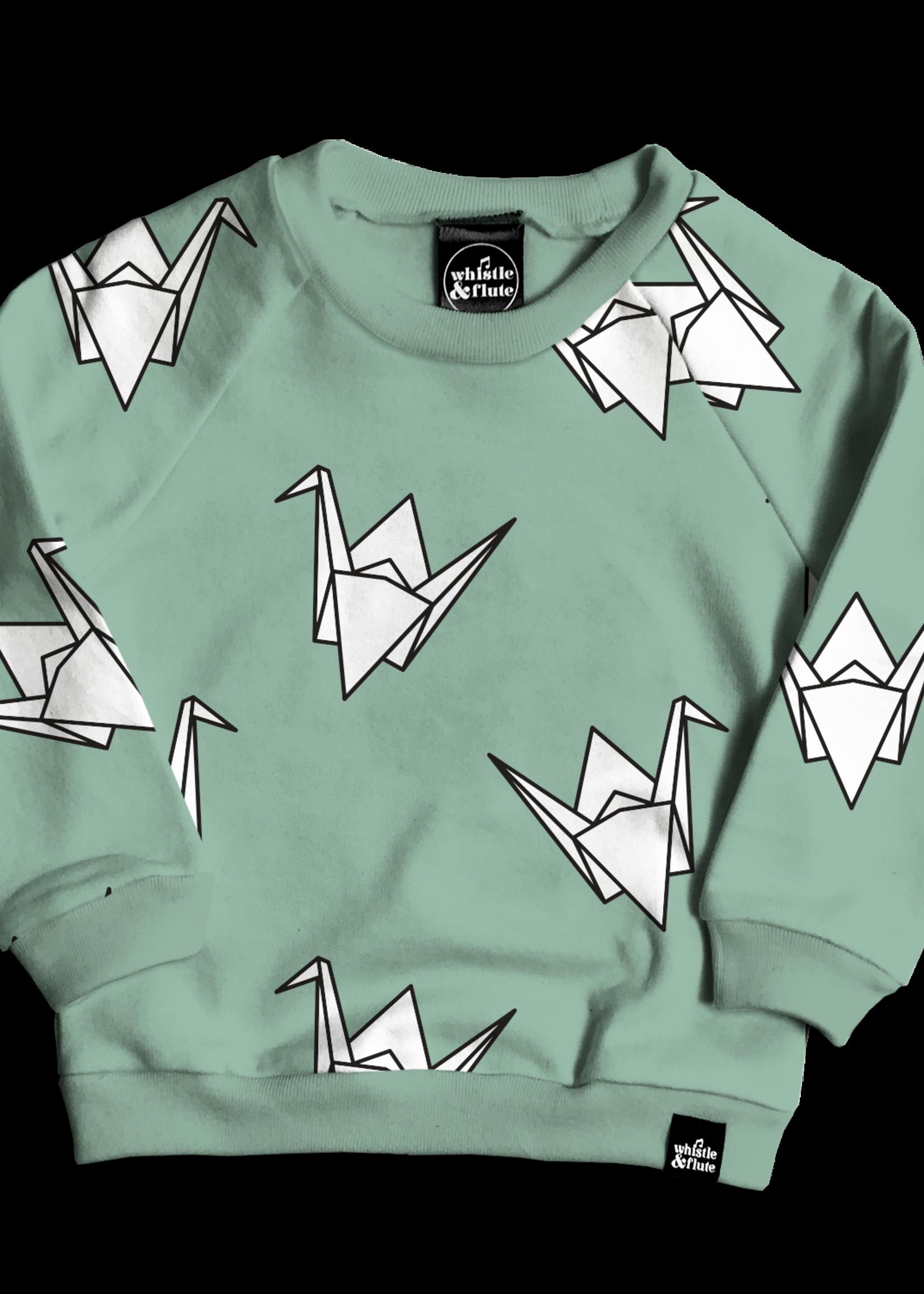 Whistle & Flute W&F Sweater (All-Over Paper Crane)