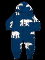 Whistle & Flute Whistle & Flute Hooded Romper (All-Over Polar Bear)