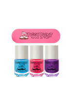 Piggy Paint Piggy Paint 3 Pack with Nail File- Sea-Quin, Forever Fancy, Girls Rule