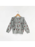 Miles Baby Miles Guitar Print on Heather Grey Sweatshirt