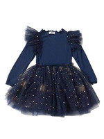 Petite Hailey Petite Short Sparkle Tutu Dress (Navy)