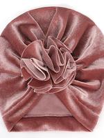 Baby Hood Baby Hood Velvet Turban Blossom Hat