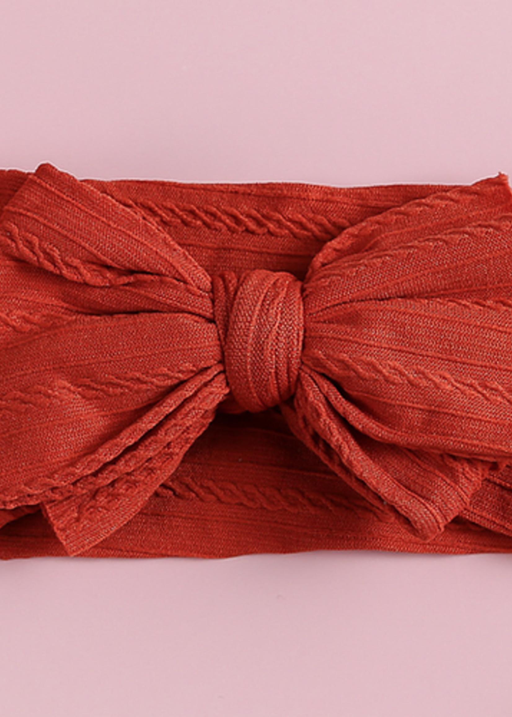 Baby Hood Baby Hood Cable Knit Baby Headband