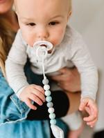 Loulou Lollipop Loulou Lollipop Pacifier Clip (Gem Blue Mint)