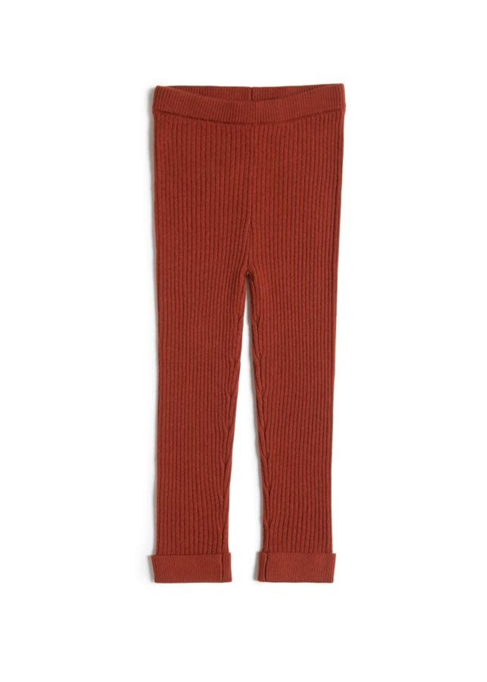 miles the label Miles the Label Merino Wool  Fille Legging - Dk. Orange