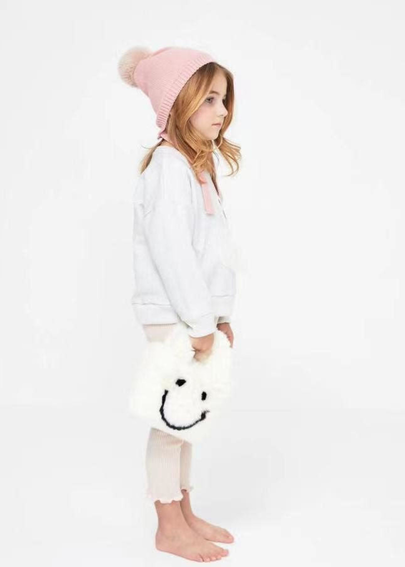 Petite Hailey PH Mini Happy Face Tote W/Crossbody Strap (White)