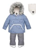 Deux Par Deux Deuxpardeux Baby 2 pc Snowsuit - Blue Hedgehog