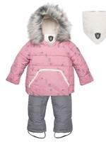 Deuxpardeux Deuxpardeux Baby 2 pc Snowsuit - PINK Hedgehog