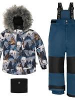 Deux Par Deux Deux Par Deux 2pc Snowsuit (Majolica Blue)