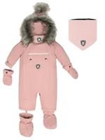 Deuxpardeux Deuxpardeux Baby 1Pc Snowsuit - Silver Pink