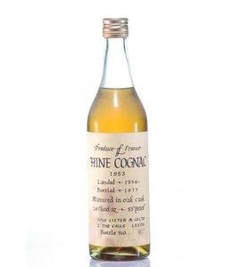 Hine & Co T. Cognac 1953 Hine Fine Cognac Gale & Lister