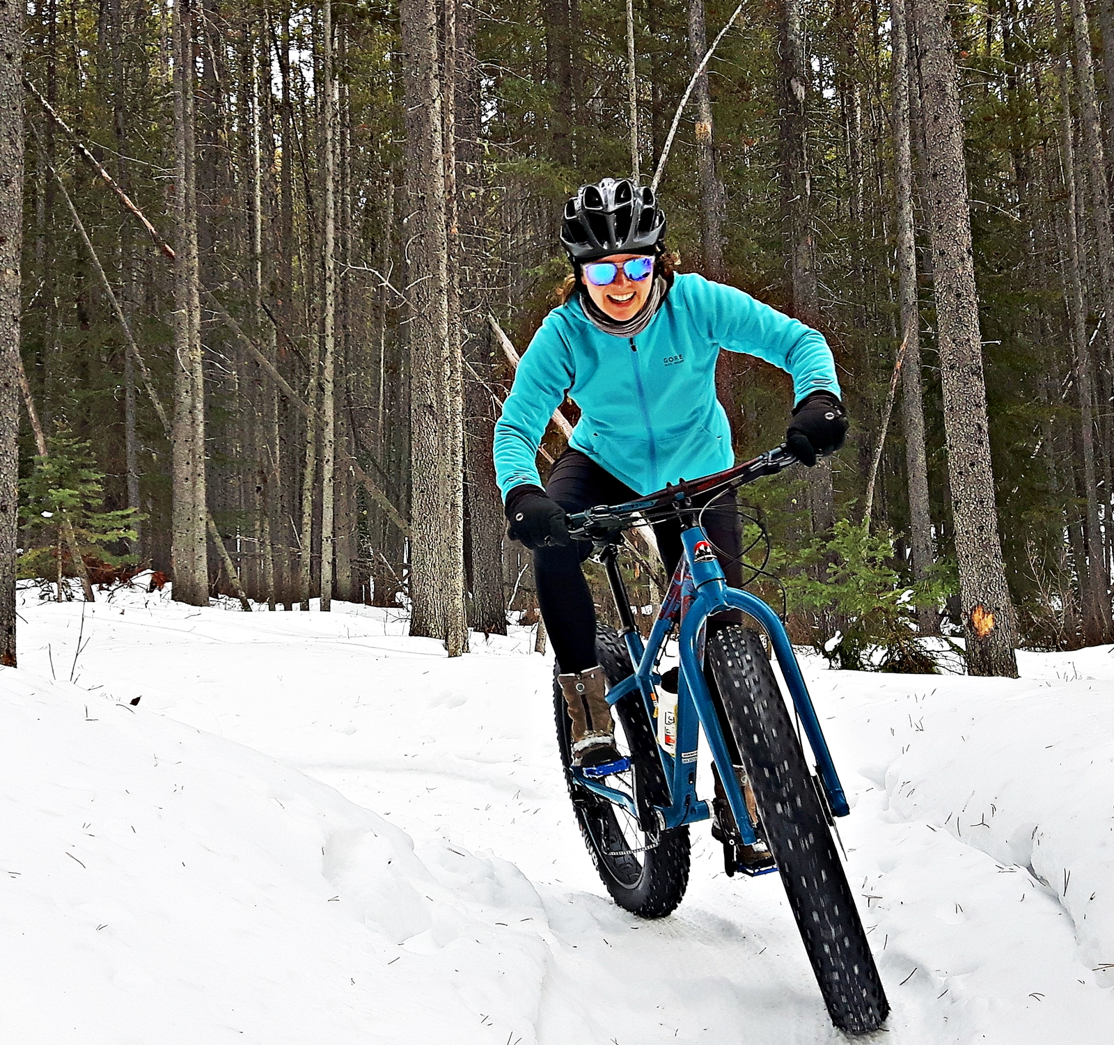 Fat biking bliss on Alberta snow in Bragg Creek