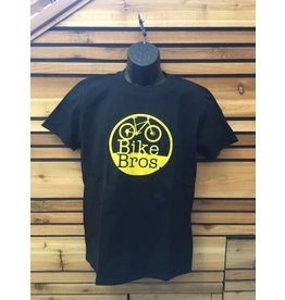 Bike Bros. Bike Bros Yellow Round Logo T-Shirt