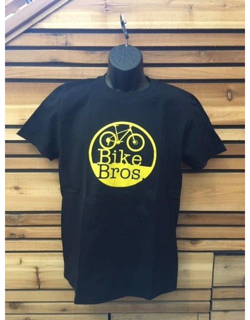 Bike Bros. Bike Bros Yellow Round Logo T-Shirt