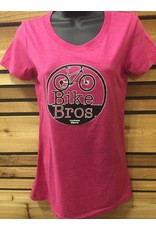 Bike Bros. Womens Round Logo T Shirt