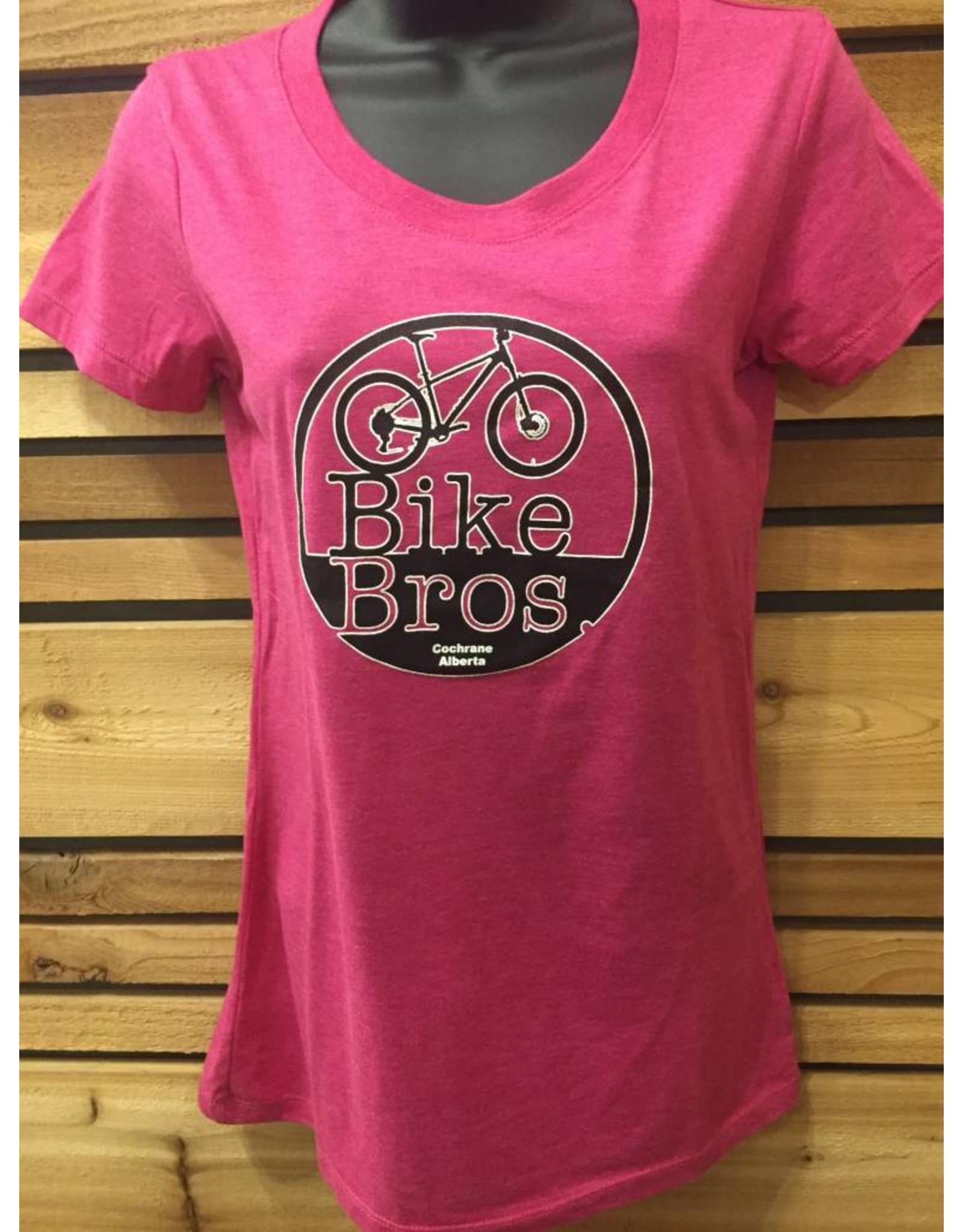 Bike Bros. Womens Round Logo T Shirt