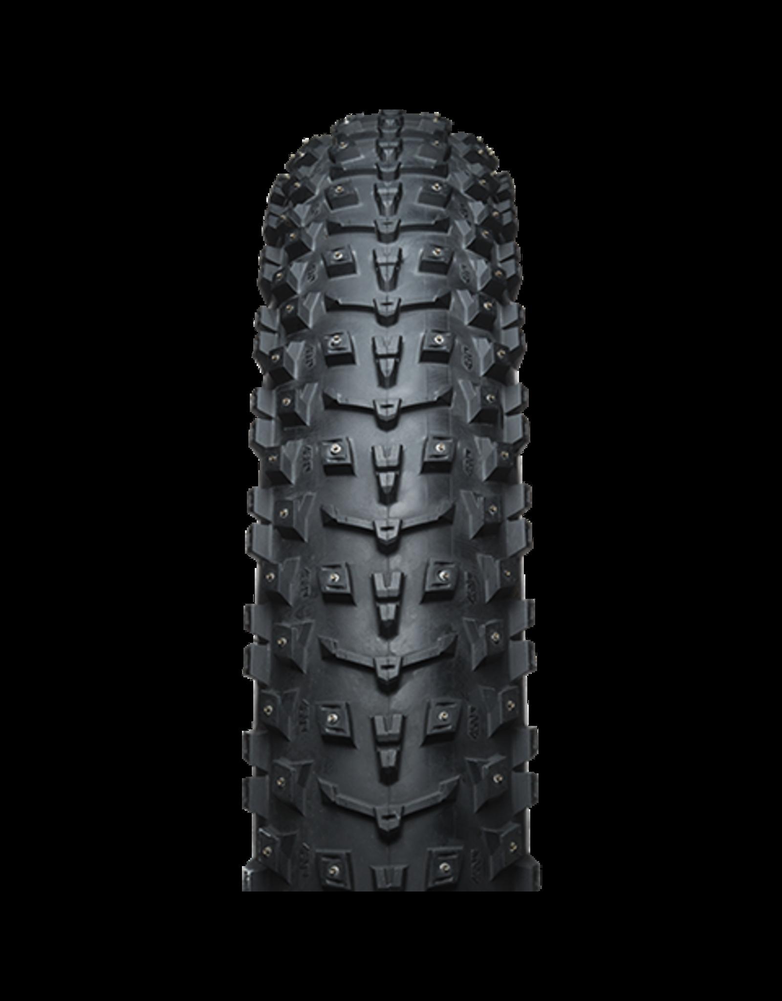 45NRTH 27.5x4.5 Dillinger 5 45NRTH Tire, TR Folding, Black, 120tpi, 252 Concave Carbide Aluminum Studs