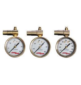 Meiser Presta Valve Dial Pressure Gauge with Pressure relief by Meiser