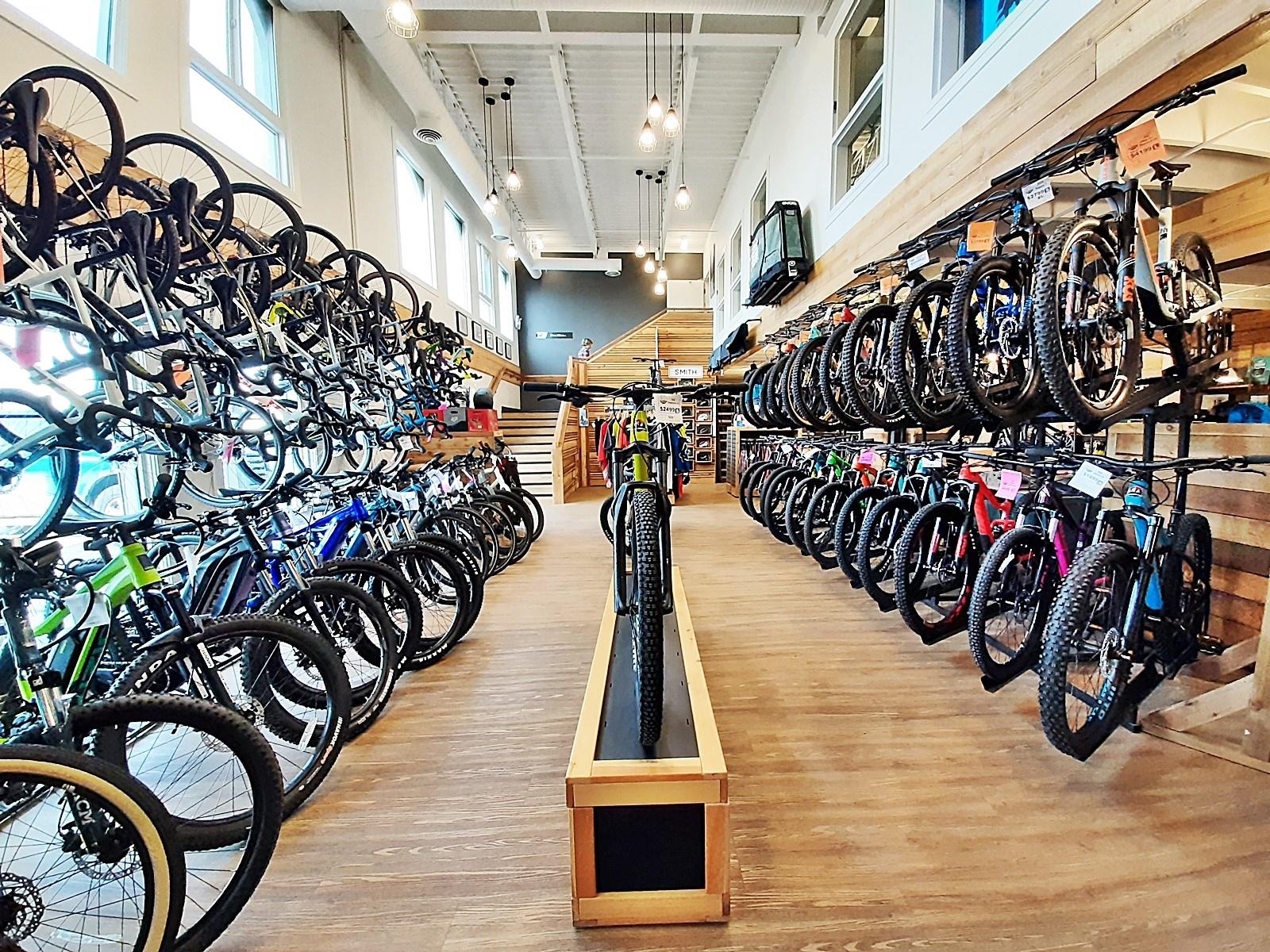 Bike Bros. bicycle shop showroom - beautiful retail space design