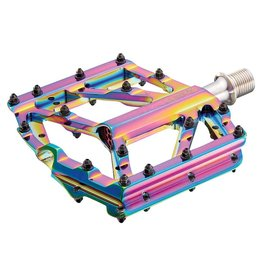 Supacaz Supacaz, Orbitron, Platform Pedals, Body: Aluminum, Spindle: Cr-Mo, 9/16'', Multicolor, Pair