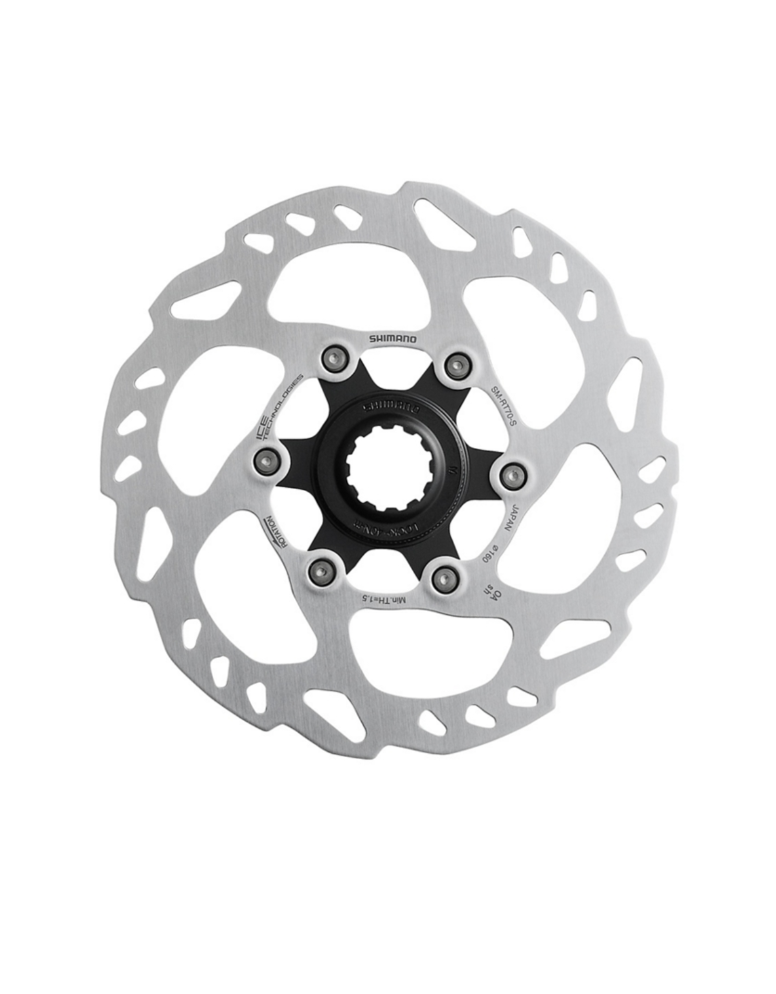 SHIMANO ROTOR FOR DISC BRAKE, SM-RT70, M 180MM, W/LOCK RING(
