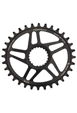 Wolf Tooth, Elliptical, Direct mount, Shimano for Shimano Cranks, 12Spd, Chainring, Teeth: 32, Speed: 12, 7075-T6 Aluminum, Black