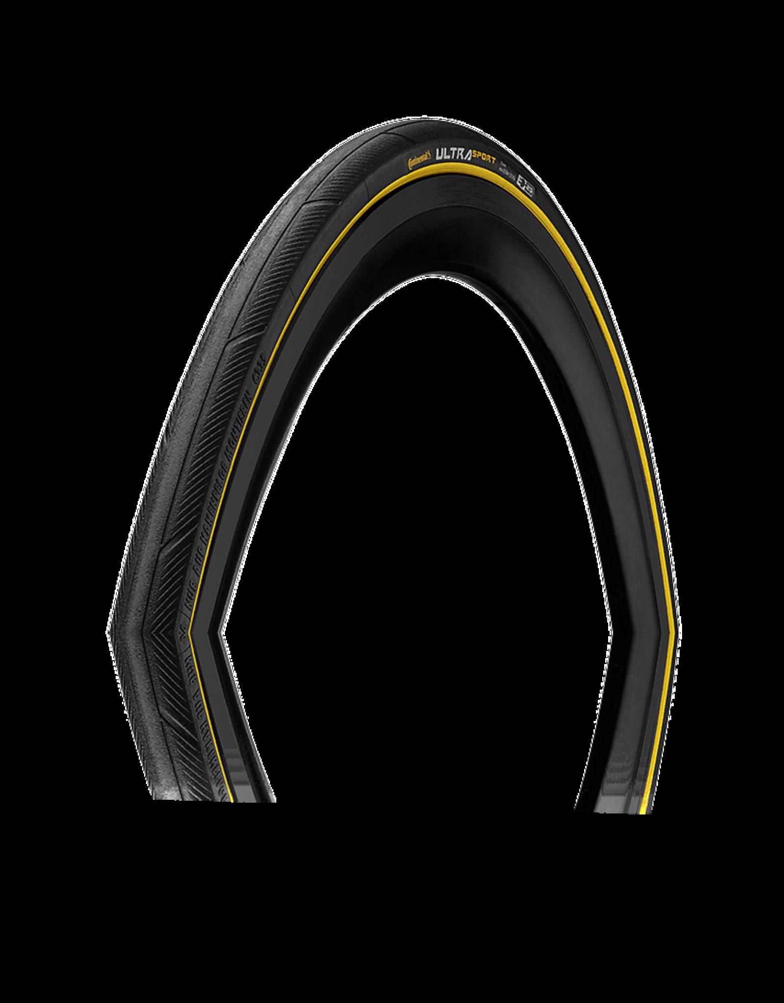 700X25 Ultra Sport III Tire, Clincher, Fold, Black, Continental