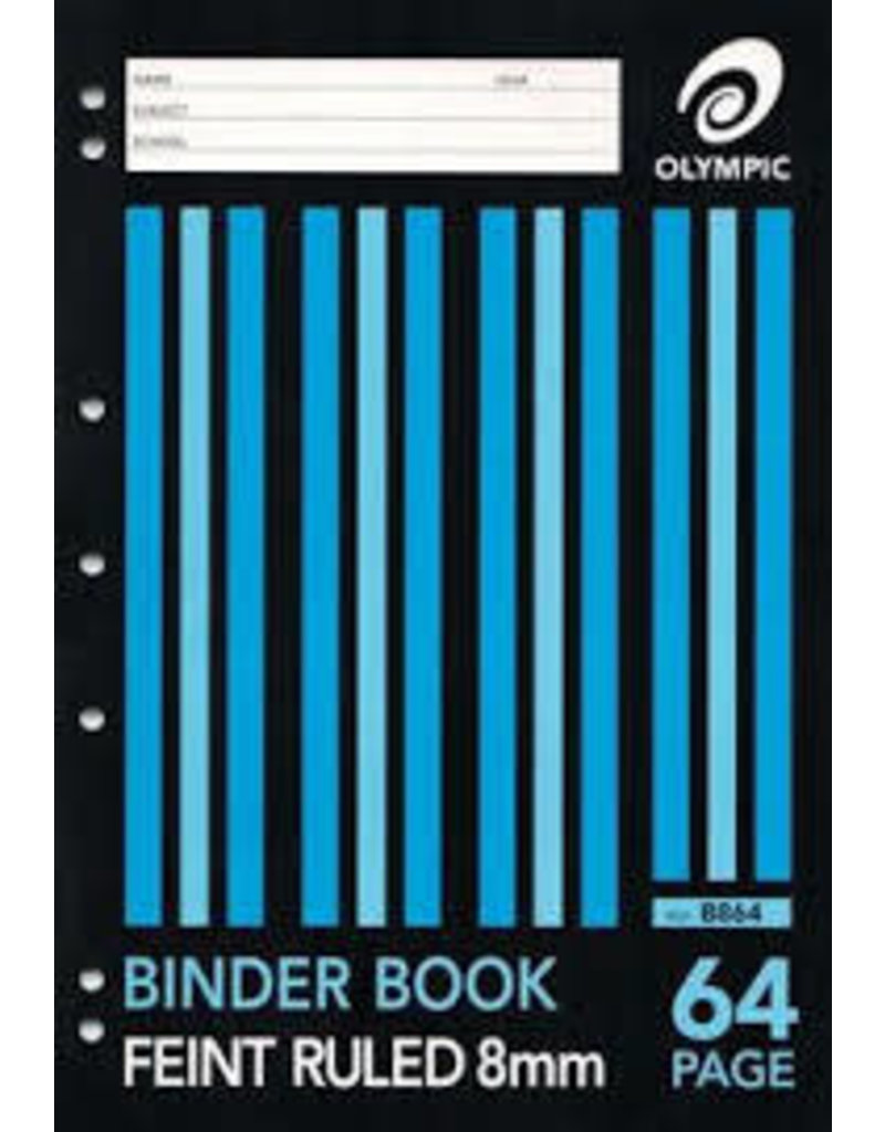 64 pg A4 Binder Book