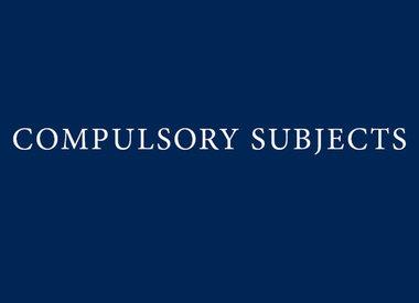 Year 12 Compulsory Subjects