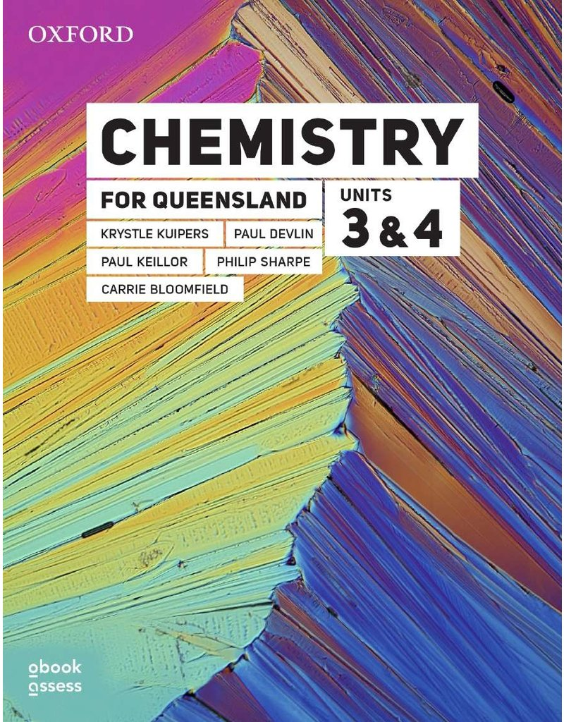 Chemistry for Queensland Units 3&4 Student book + obook assess (Yr 12)