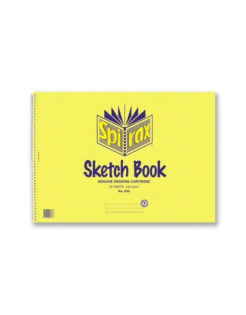 Sketch Book A3 Spirax 20 Leaf