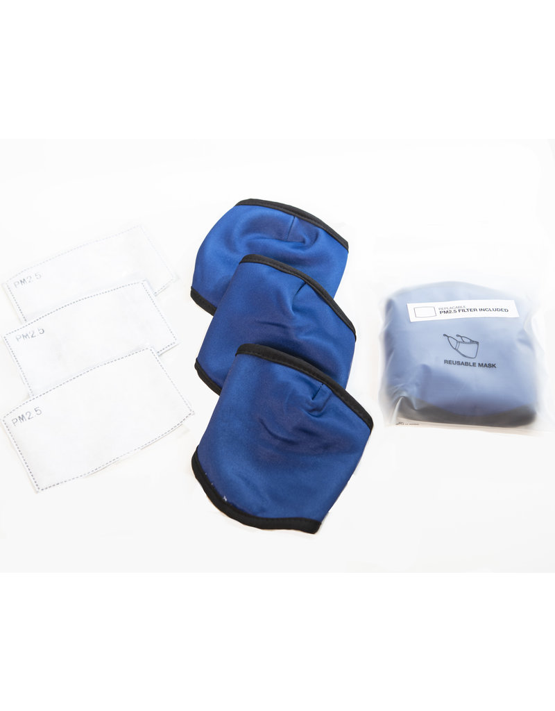 Face Mask (with Filter) Navy Blue (3pkt)