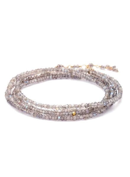 Anne Sportun Gemstone Wrap Bracelet Labradorite