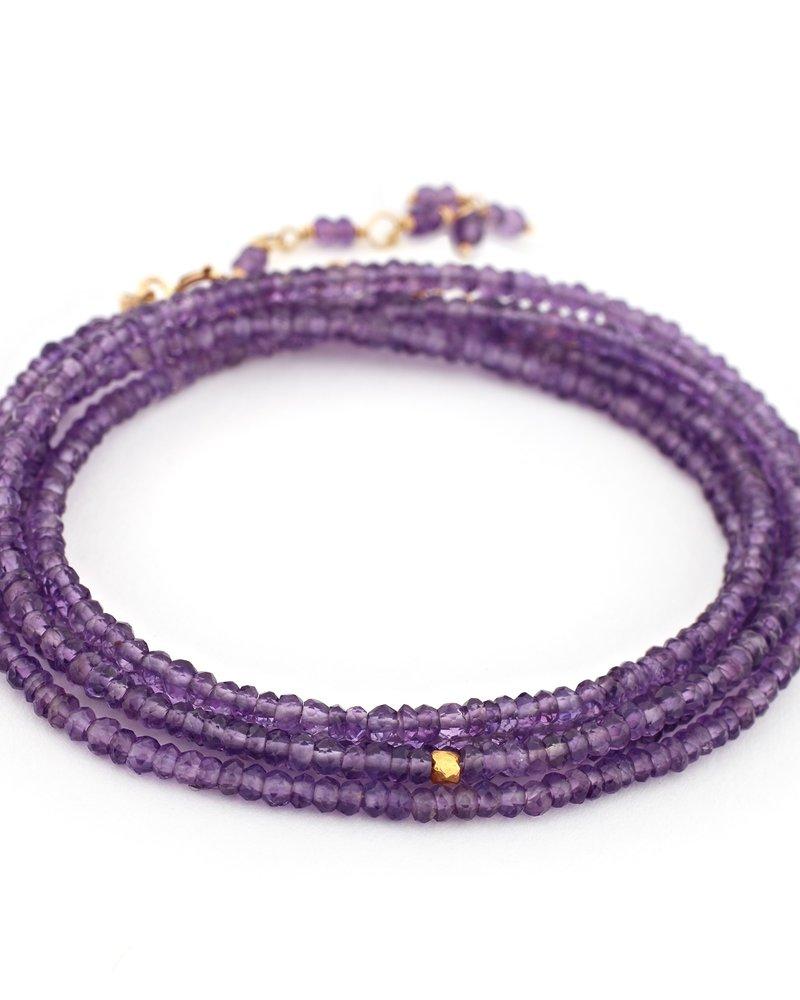 Anne Sportun Amethyst Wrap Bracelet
